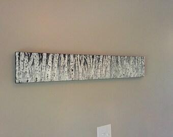 Birch Trees - Birch Tree Art - Birch Tree Painting - Original Painting - Tree Painting - Landscape Painting - Acrylic Birch Tree Painting