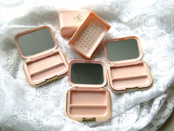 Mary Kay Compacts Soap Dish Cosmetic Lot Of 4 Pink Plastic