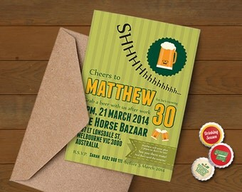 Have A Beer Surprise Party Invitation With Your Best Friend