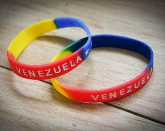 Venezuela Rubber Band Bracelet, Yellow Blue Red Bracelet, Colorful Bracelet, Rubber Wristband, Silicone Bracelet, Venezuela Jewelry.