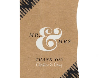 Better Together Thank You Cards - Custom Wedding Party Supplies- set of 12