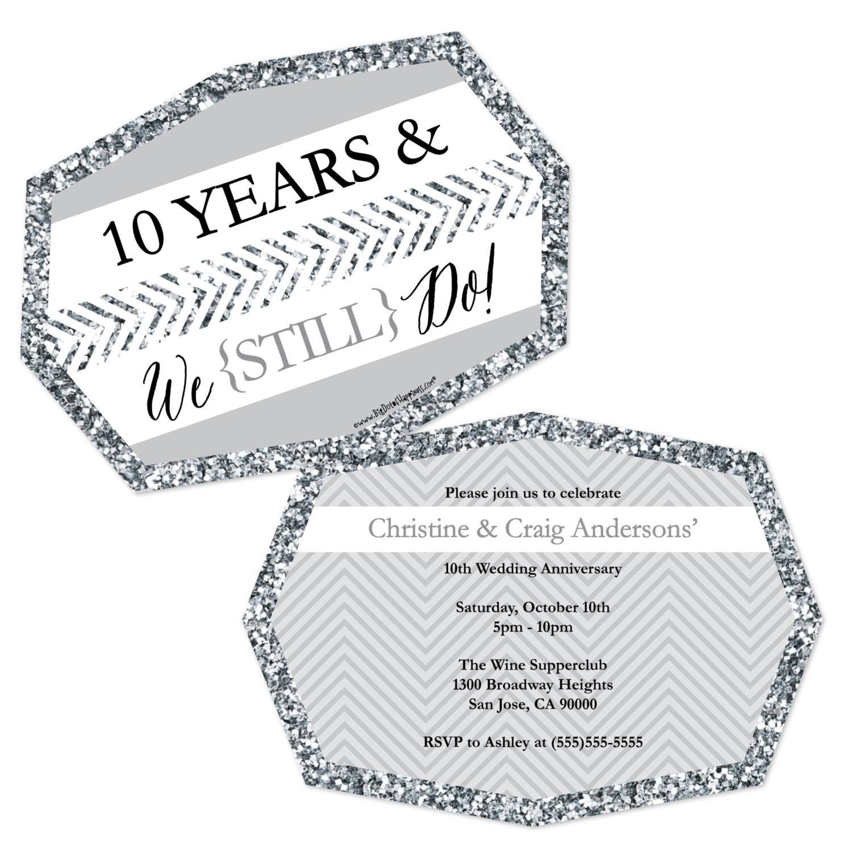 10th Wedding Anniversary Invitations: Anniversary Party Invitations We Still Do 10th