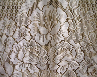 French lace curtains etsy - Rideaux anciens dentelle ...