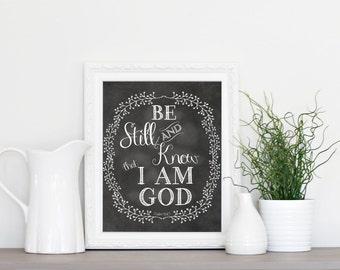 Encouragement, Scripture, Chalkboard Printable, INSTANT download, Printable chalkboard art, Home decor