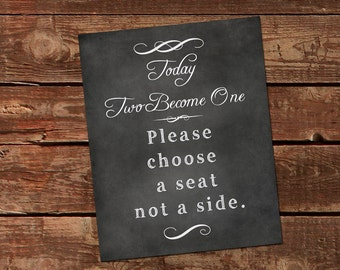 Wedding Chalkboard Printable Sign. DIY Chalkboard. 2 sizes- 4 downloadable files.