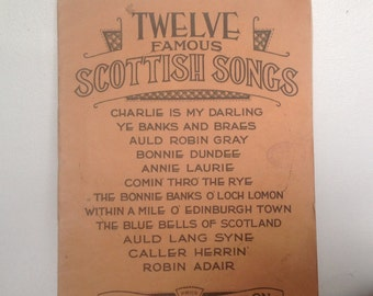 Vintage Songbook. Twelve Famous Scottish Songs. 1930.