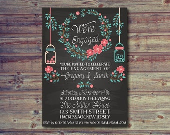 Winter Engagement Party Invitation