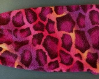 Dog coat -  Neon Leopard Fleece