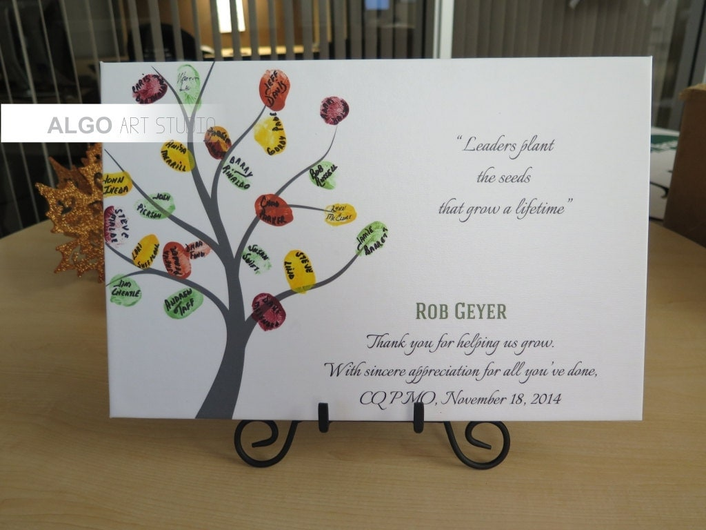 Teachers Gift Gift for teacher DIY Fingerprint Tree