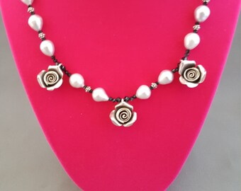 Sterling Rose Necklace