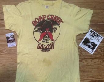 "Vintage Austin Texas Soap Creek Saloon T Shirt sz 32"" in scruffy good condition"