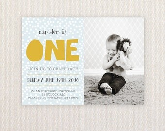 Boys Birthday Party Invitations. I Customize, You Print.