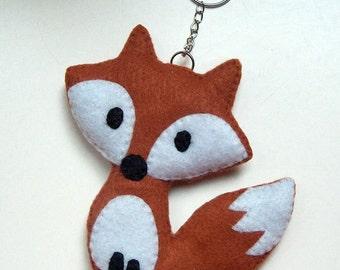 Fox light brown bag charms key chain