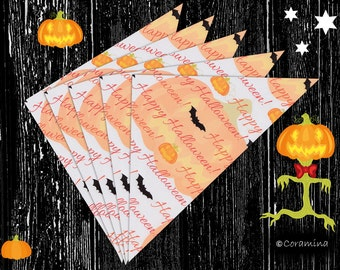 10 Halloweensweetbags as a giveaway