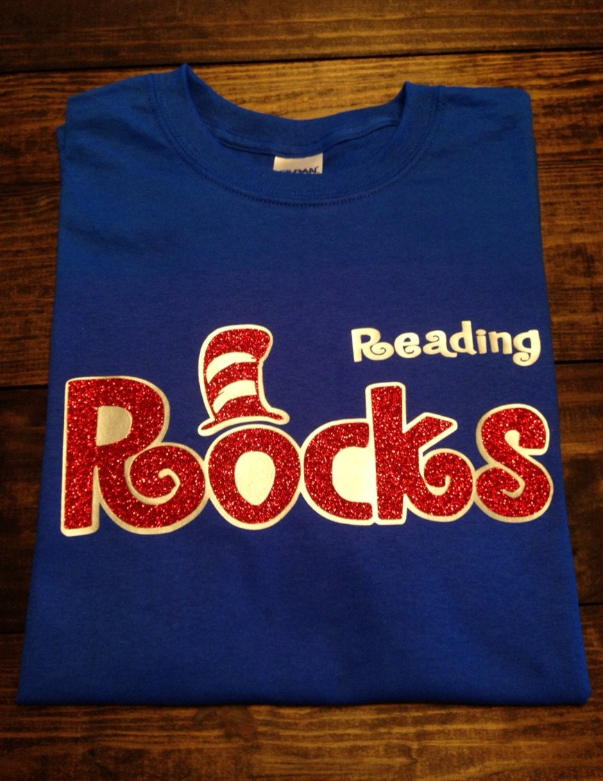 Dr Seuss Reading Rocks T Shirt Teacher on Dr Seuss Teacher Shirts