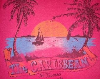 Vintage 50/50 Soft Thin THE CARRIBBEAN HAWAII Shirt
