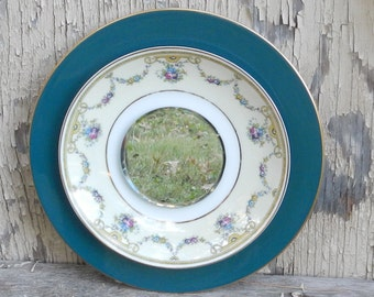 Lovely Vintage Plate Mirror!