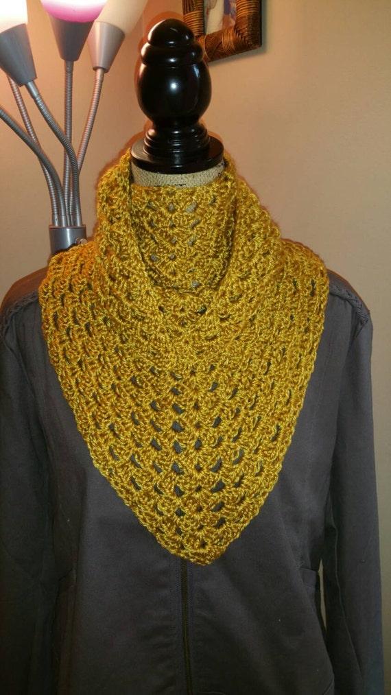 handmade crochet s triangle scarf