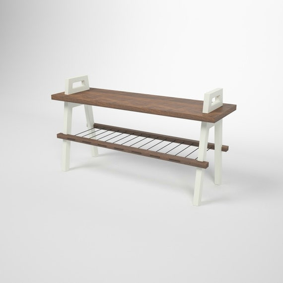 36 Entryway Hallway Storage Bench In Walnut
