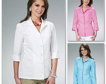 McCall's Sewing Pattern M6076 Misses' Shirts