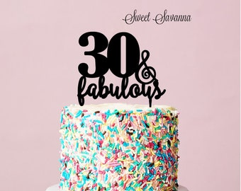 Birthday Cake Toppers - 30 & Fabulous cake topper MADE IN AUSTRALIA