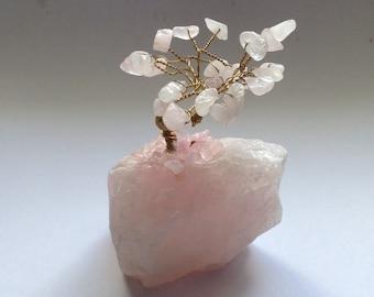 Rose quartz gem tree small 2 inch