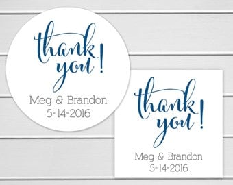 Thank You Stickers, Wedding Thank You Sticker, Wedding Stickers, Wedding labels (#075)