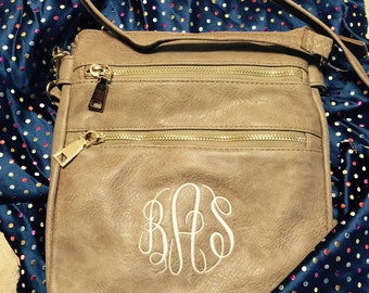 Soft Monogrammed Leather Like Crossbody