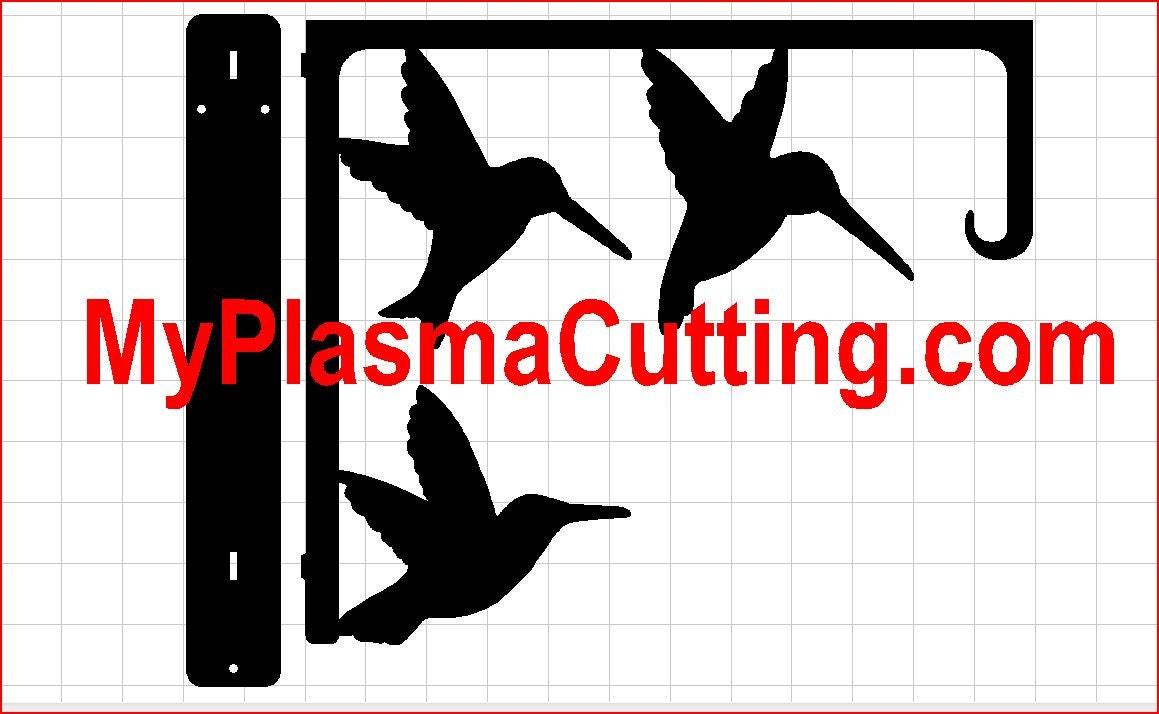 humming bird feeder  dxf format clip art for cnc plasma cutting from mylasercutting on etsy studio