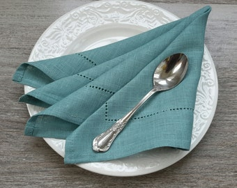 LINEN Napkins - STONE BLUE napkins - linen Napkin Set, Table napkin, table linen, wedding napkins, dinner napkins, cloth napkins