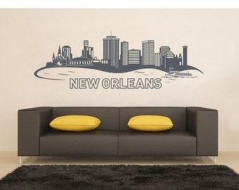 Summer Sale - 20% OFF New Orleans wall decal, sticker, mural, vinyl wall art