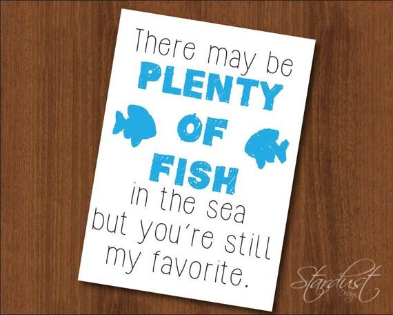 Plenty of fish printable card 5x7 digital instant download for Download plenty of fish