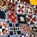 """Country Quilt Pattern - Country Sampler - 15 Blocks (single bed or throw: 52"""" x 80"""")"""