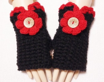 Wool Thick Soft Fingerless Gloves