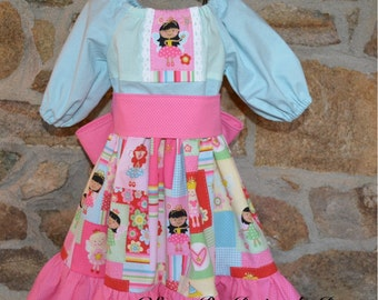 Princess peasant dress, toddler dress, baby dress, fairy tale dress, toddler princess, baby princess, princess party dress, pink dress