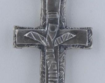 """PMC Artisan Handmade .999 Fine Silver """"Vin Diesel Christian Cross"""" Pendant New Age Cross"""