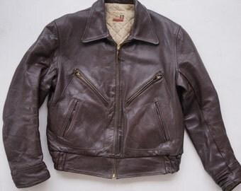 Vintage 1950s Windward Style Horsehide leather jacket