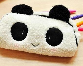 Super Plush Panda Pencil Pouch / Cosmetic Bag