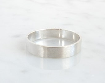simple silver ring, basic silver wedding ring, pure jewelry, minimalistic wedding band