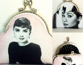 coin purse change purse credit card purse Audrey Hepburn hollywood movie
