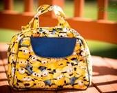 yellow despicable, yellow, vintage, donna, handbag, purse, ready to ship