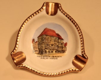 ANTIQUE Porcelain Mini-Ashtray from MOSBACH-BADEN