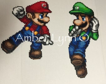 Mario and Luigi Large Fusion Bead Designs
