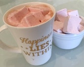 Gourmet Marshmallows ~ Raspberry Delight ~ Fresh Light Fruity Handmade Sweets ~ perfect gifts, thank you, co-worker, hot chocolate lover