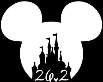 Disney running decal, disney marathon decal, run disney decal, half marathon decal, disney castle decal, running sticker, 13.1 sticker,