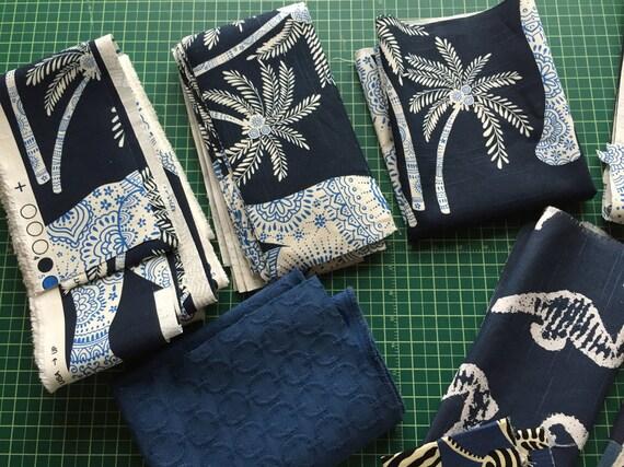 Blue Tropical Elephant Stars Seahorse And Geometric Decor Decorative Home Decor Remnant Fabric