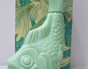 Avon Vintage Sea Spirit 5oz. Foaming Bath Oil Koi Bottle Circa 1970's