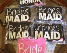 Bridal Party Shirts, Bridesmaids shirts, Maid of Honor Shirts, Flower Girl Shirts