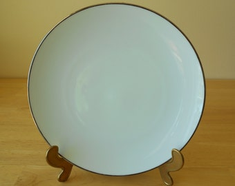 "Noritake Freemont Salad Plate, White with Platinum Trim, 8-3/8"" Diameter, Made in Japan"