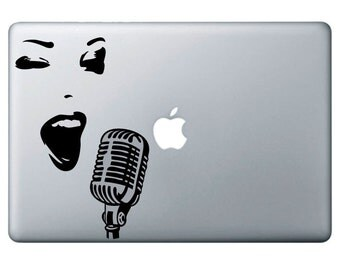 Music, adhesive vinyl decal sticker, macbook, ipad and other Devices, Free Shipping